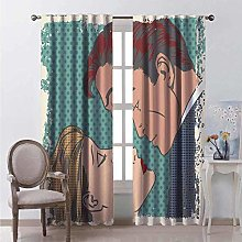 WJDJT Blackout Curtains Thermal Insulated Noise
