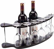 WJHCDDA Wall Mounted Wine Rack YWYW Wooden Wine