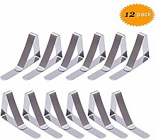 WJIASI Tablecloth Clips 12 Pack Stainless Steel