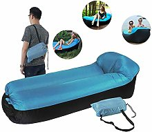 Wjie Inflatable Sofa Camping with Pillow and