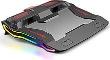 WJJ IPL Laptop Cooling Pad, Colorful Glare Gaming