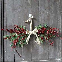 WJTMY Chirstmas Berry Garland Linen Door Hanging