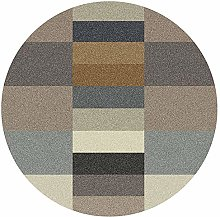 WJW-DT Brown Round Rug Area Rugs for Living Room