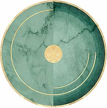 WJW-DT Carpet Round Geometric Style Rugs, Emerald