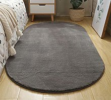 WJW-DT Dark Grey Rug Oval Area Tradition Rugs for