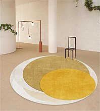 WJW-DT Geometric Style Rugs Carpet, Yellow Brown