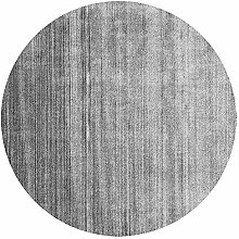 WJW-DT Rug Round Living Room Grey/Rugs for Bedroom