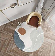 WJW-DT Rugs Round Geometric Style Carpet Grey