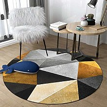WJW-DT Yellow Beige Grey Black Round Rug Area Rugs
