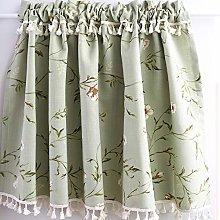 WJWJ Cotton Linen Cafe Curtain, kitchen bistro