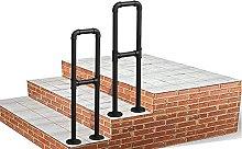 WL-ZZZ Black Handrail for Indoor Outdoor Steps  