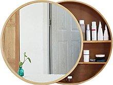 WLABCD Mirror Bathroom Mirror Cabinets,Round