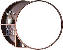 WLABCD Mirror Bathroom Mirror Cabinets,Round