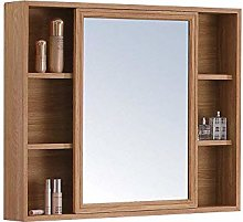 WLABCD Mirror Bathroom Mirror with Shelf, Makeup
