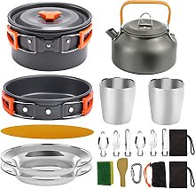 WLAY Camping Cookware Kit 2-3 People,Picnic