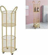 WLD Bathroom Shelf,Metal Mobile Storage Shelf, 2