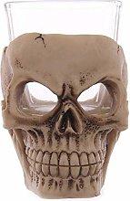 WLD Candle Holder Skull Gothic Tea Light Candle