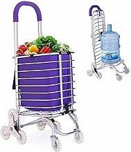 WLD Folding Shopping Cart, Stair Climbing Grocery