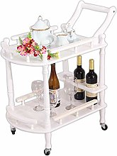 WLD Kitchen Bar Serving Cart, with 4 Castors and 4
