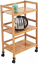 WLD Kitchen Serving Trolley Cart Bar Family Swivel