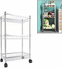 WLD Kitchen Storage Shelf,Metal Rolling Utility