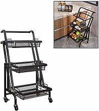 WLD Kitchen Storage Shelf,Storage Trolley Cart,