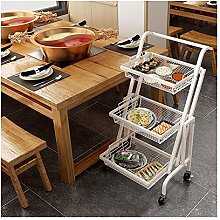 WLD Trolley Cart Serving,Kitchen Rolling Cart