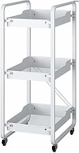 WLD Trolley Cart Serving,Metal 3 Layers Folding