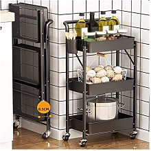 WLD Trolley Cart Serving,Metal Folding Kitchen