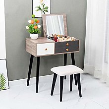 WLD Vanity Desk with Flip Top Mirror and Free