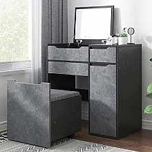 WLD Vanity Table Desk with 2 Drawers and Large