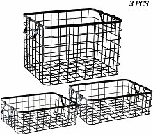 WLNKJ Wire Storage Basket, 3 PCS Household Fruit