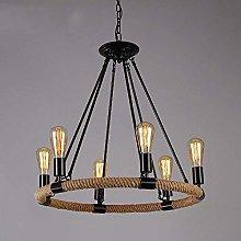 Wlnnes 6/8 lamp hemp rope creative Vintage