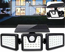 Wlnnes 74 LED Flood Lights 3 Head Motion Sensor