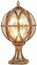 Wlnnes European Victoria Post Pillar Lamp Villa