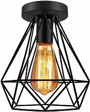 Wlnnes Industrial Vintage Style Ceiling Light Iron