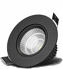 Wlnnes LED Spotlights For Bathroom, Black Indoor