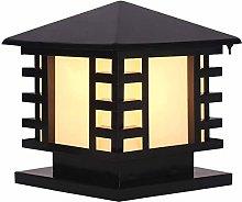 Wlnnes Outdoor Column Lamp IP65 Waterproof Black