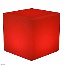 Wlnnes Outdoor LED Cube Stool Chair Cube Seat