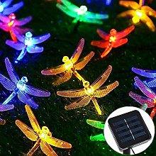 Wlnnes Solar Garden Lights Dragonfly Solar Powered
