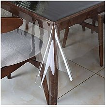 WLOWS Tablecloth Oilcloth PVC Clear Transparent