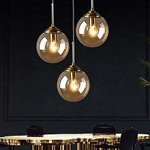 WLP-WF Amber Glass Shade Hanging Lamp Height