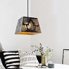 WLP-WF Black Pendant Light Iron Metal Lampshade