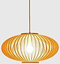 WLP-WF Creative Wood Lamp Cage Pendant Lamp Oval