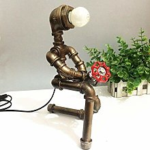 WLP-WF Desk Lamp Loft Industrial Air Pipe Robot