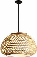 WLP-WF E27 Pendant Light Handmade Bamboo Lampshade