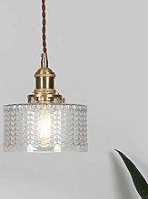 WLP-WF Glass Lampshade Pendant Light Gold Metal