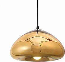 WLP-WF Gold Pendant Lamp Glass Shade Hanging Lamp