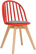 WLP-WF Home Simple Chair Plastic Back Desk Modern