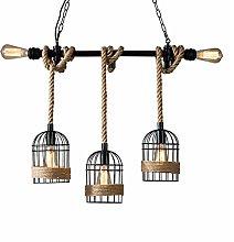 WLP-WF Industrial Vintage Hanging Lamp Deco Hemp